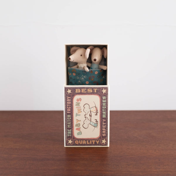 Twin Baby Mice in a Box- Floral Bedding