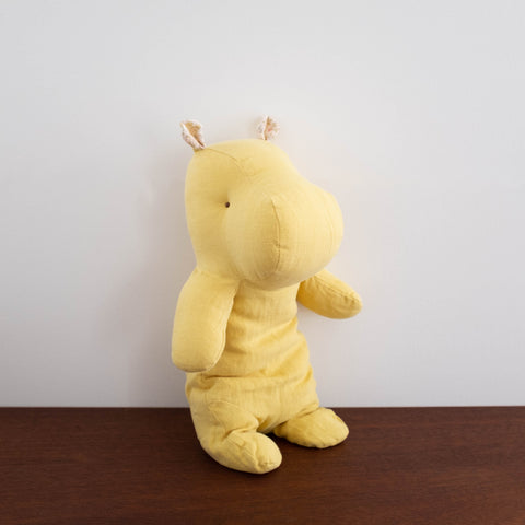 Hippo Plush Doll- Medium Yellow