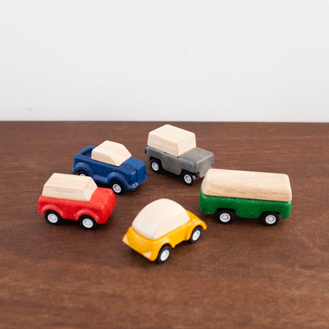 Wooden Mini Car Set