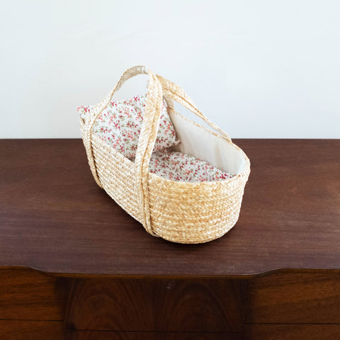 French Doll Woven Carrier Basket