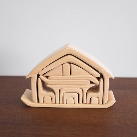 All in House Natural Stacking Toy Natural Color