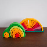 Sun Ray Arch Yellow Wooden Stacking Toy