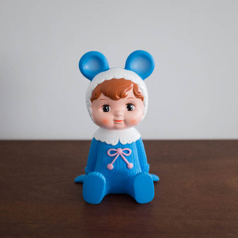 Woodland Retro Doll Bank- Blue