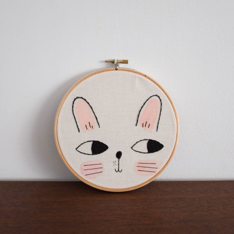 Bunny Wall Embroidery Hoop