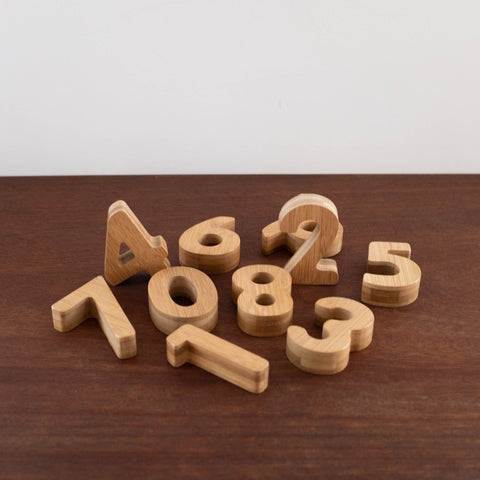 Wooden Bamboo Numbers Set