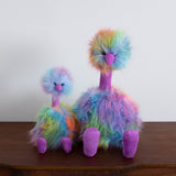 Rainbow Pompom Bird Doll- Small
