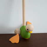 Wooden Push Along Duck