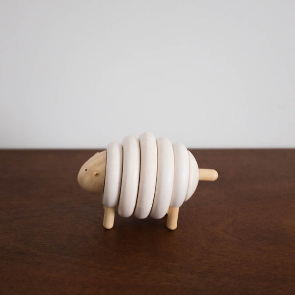 Wooden Lacing Sheep Toy