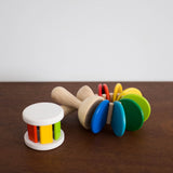 Wooden Colorful Roller Rattle Toy
