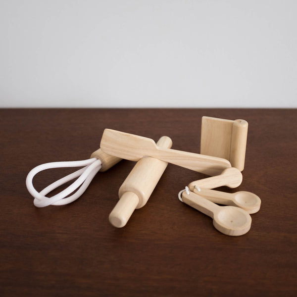 Wooden Baking Utensils Set