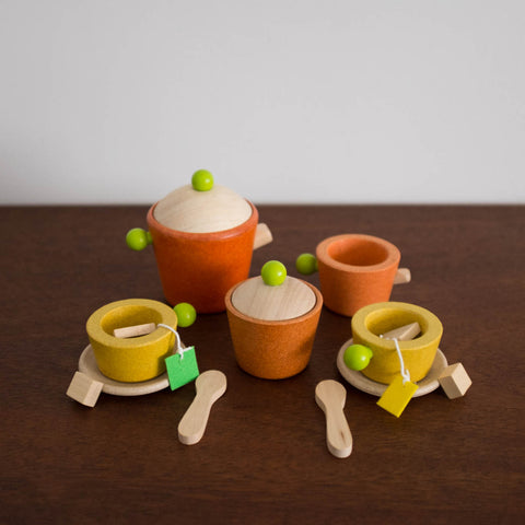 Wooden Retro Tea Set