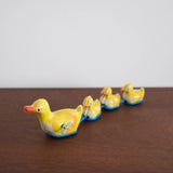 Retro Duck Family Tin Windup Toy