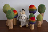 Wool Felt: Rainbow Trees Set of 3
