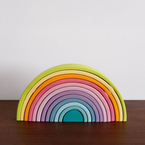 Wooden Rainbow Large-Pastel Color