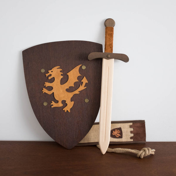 Wooden Sword with Jute Bag- Natural