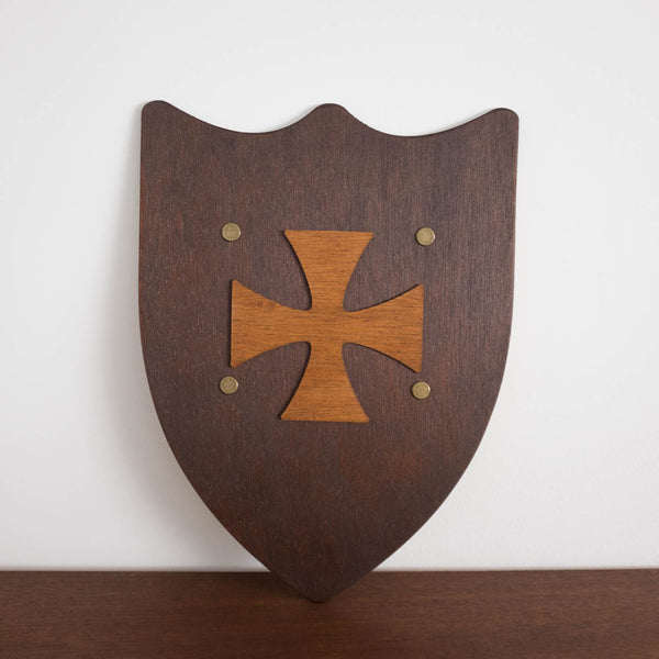 Wooden Knight Shield- Cross
