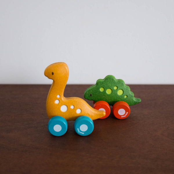 Wooden Stegosaurus Push Toy