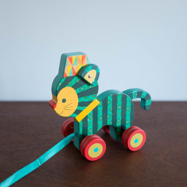 Neko the Wooden Pull Toy