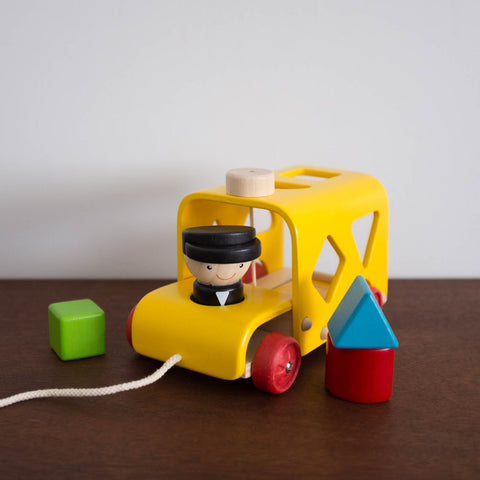 Wooden Sorting Bus Toy