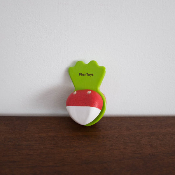 Wooden Beetroot Clapper Toy