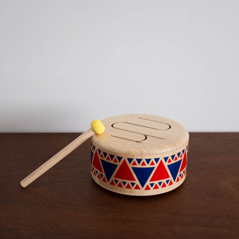 Wooden Solid Drum Toy