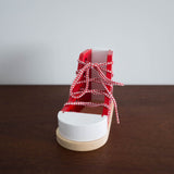 Wooden Lacing Shoe Toy