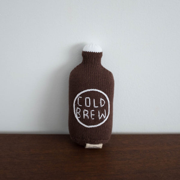 Organic Cold Brew Toy Baby Rattle