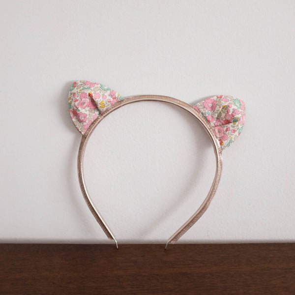 Cat Ear Liberty Print Headband
