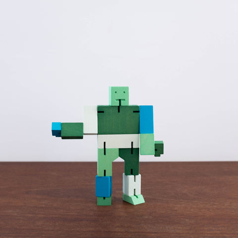 Small Cubebot Green/Blue