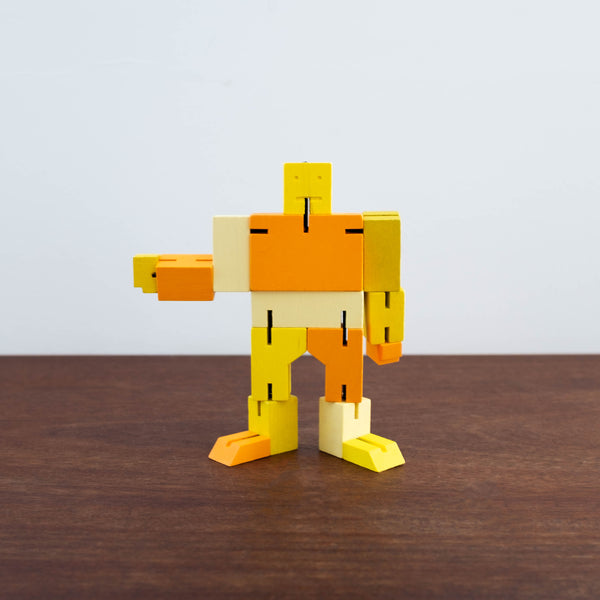Small Cubebot Yellow/Orange
