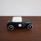 Black Sheriff Wooden Toy Car