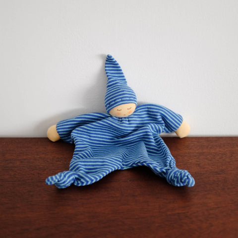 Nanchen Knotted Soothing Doll- Blue