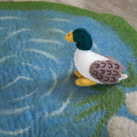 Duck Pond Felted Play Set Detail