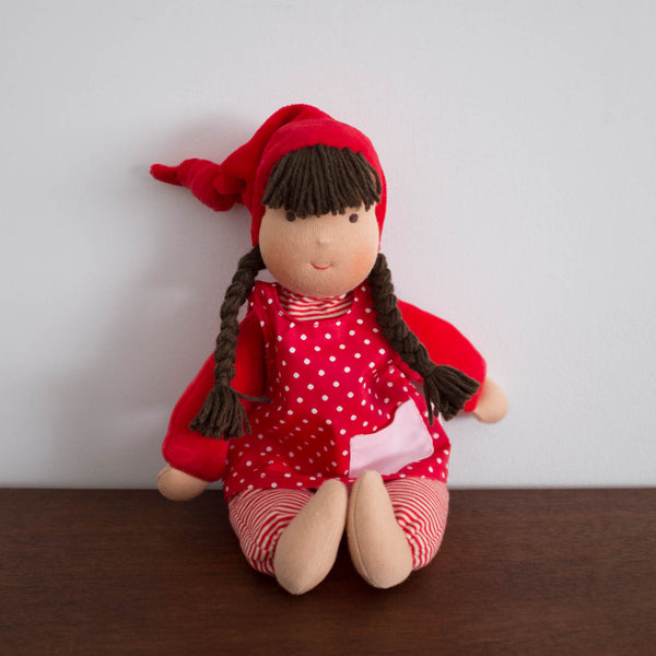 Red Waldorf School Doll