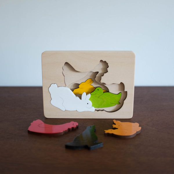 Wooden Puzzle: Farm Animals