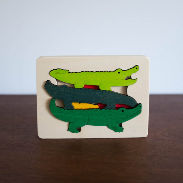 Wooden Puzzle: Crocodiles