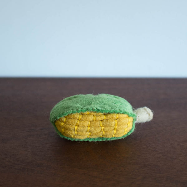 Wool Felt Food Toy: Corn