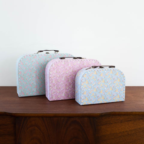 Floral Suitcase Set of 3