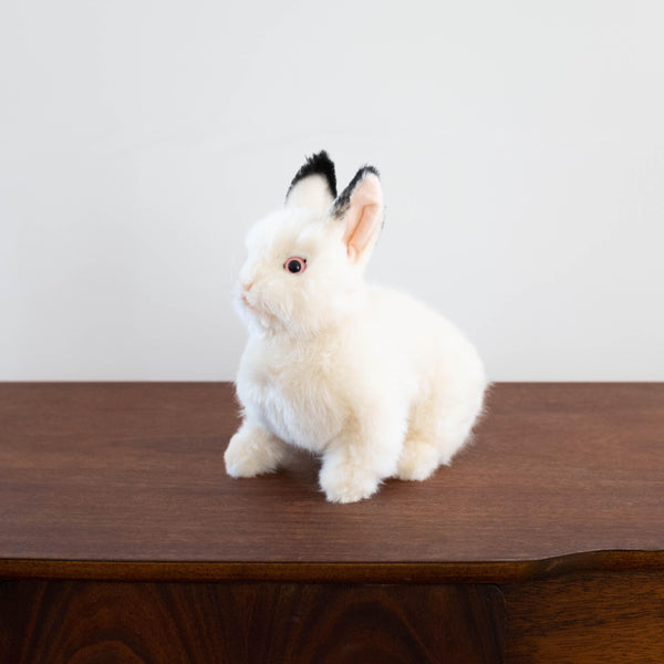 Sitting White Rabbit Stuffed Animal