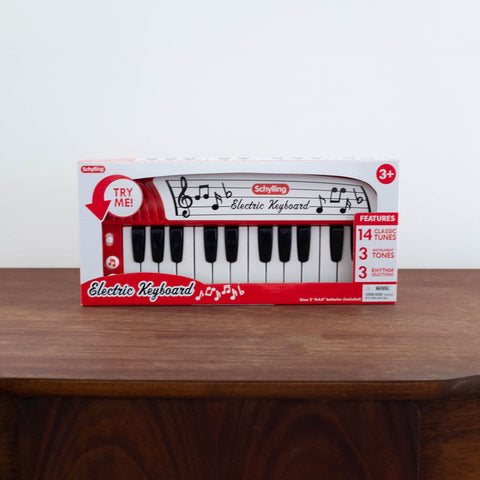 Electric Red Keyboard Toy