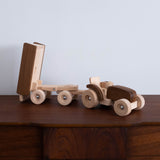 Wooden Tractor with Trailer