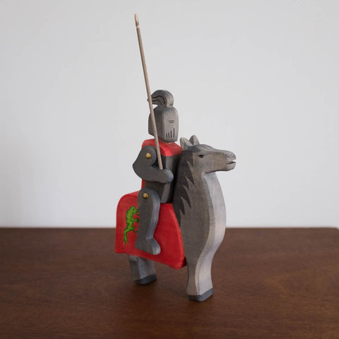 Ostheimer Knight and Horse Set Toy- Black Dragon