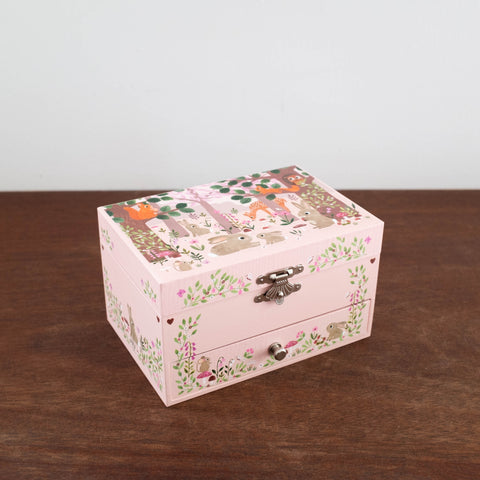 Bunny Woodland Music Jewelry Box