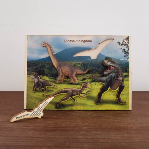 3D Wooden Puzzles- Dinosaurs