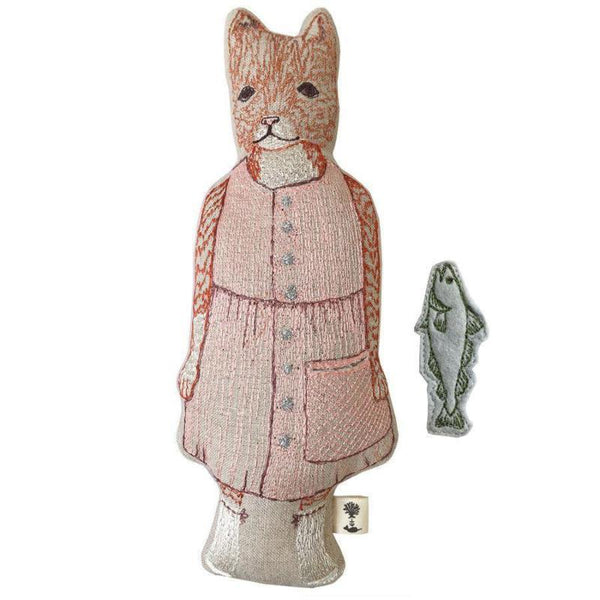 Goban Cat with Fish Pocket Doll