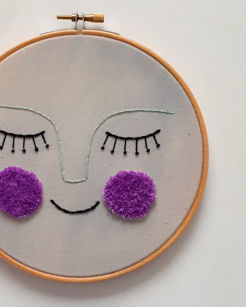 Luna Embroidered Hoop Wall Decor