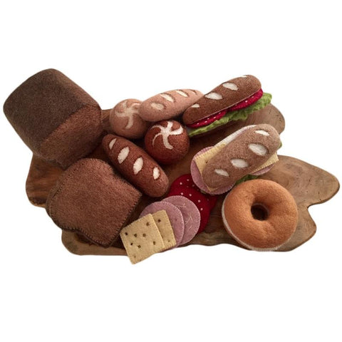 Wool Felt Food Toy: Bread Pastry Set