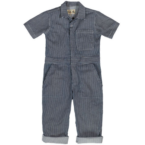 Traditional Coverall- Hickory Stripe