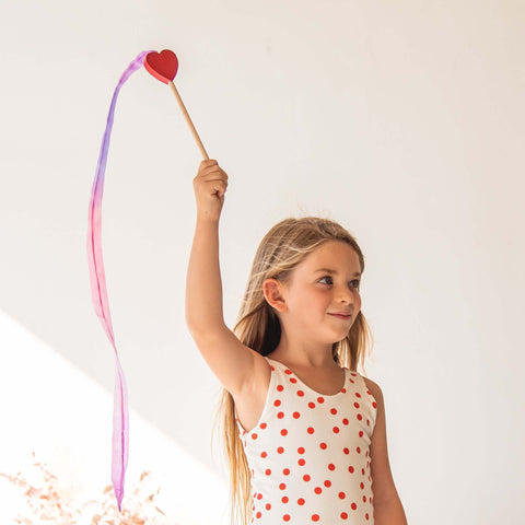Mini Silk Streamers- Hearts