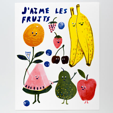 Fruits Art Print Poster